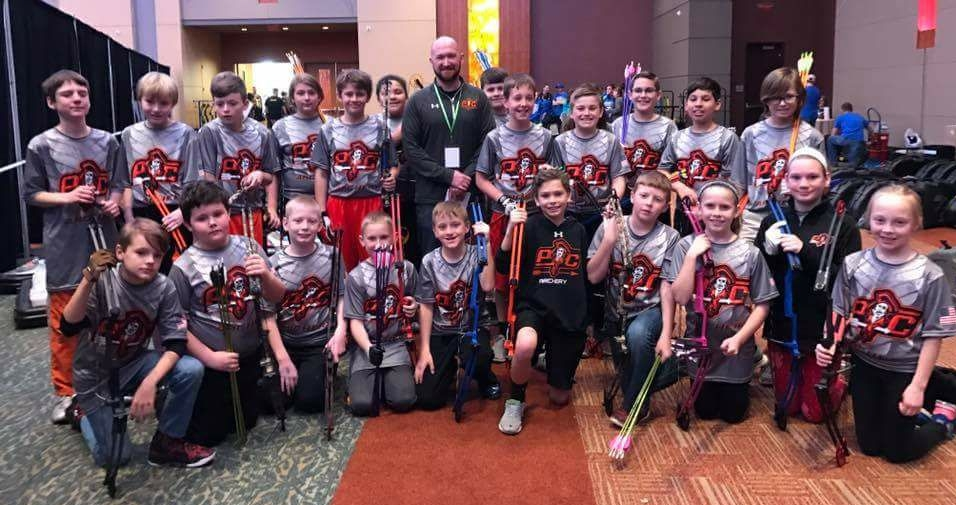 Contributed photo Archery teams at Barry School (top), Platte City Middle School (middle) and Siegrist Elementary (bottom) recently participated in the ninth annual Missouri National Archery in the Schools Program state tournament held in Branson, Mo. in late March.