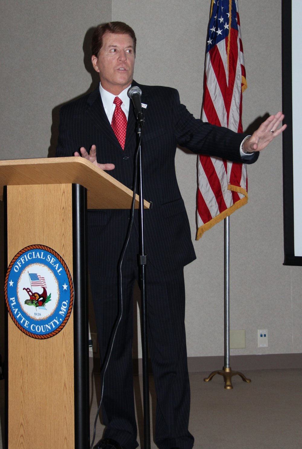 ROSS MARTIN/Citizen photo Craig Hill spoke at the 12th annual Platte County Prosecutor's Office Victims' Rights luncheon Friday, April 7 at the Platte County Resource Center in Kansas City, Mo.