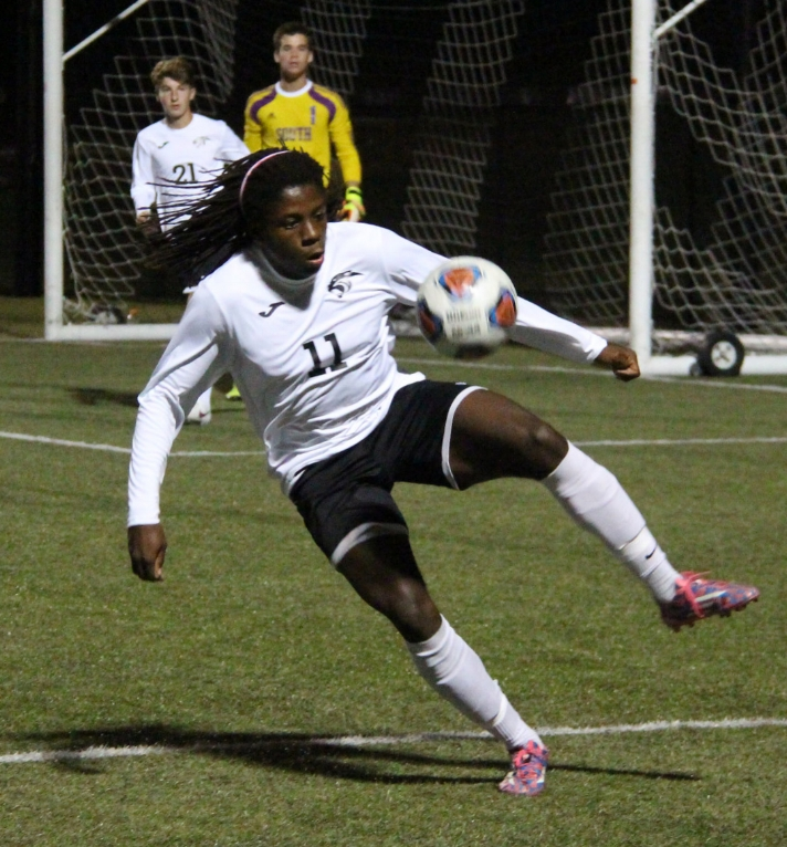 Citizen file photo Park Hill South senior Nylo Clarke recently signed to continue his soccer and track careers at Southern Illinois-Edwardsville.