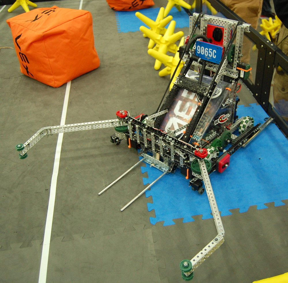 Contributed photo A look at Platte County High School team 9065C's robot that helped an alliance reach the VEX Robotics World Championship final last month.