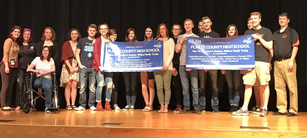 "Contributed photo Platte County High School's theatre department received six nominations in the 15th annual Blue Star Awards for its production of ""How to Succeed in Business without Really Trying"" this past fall."