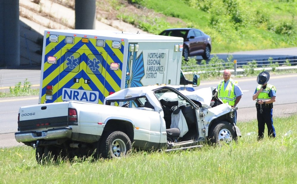 NICK INGRAM/Citizen photo John Klapp, the 71-year-old driver of this Dodge Ram involved in a fatality crash Friday, May 12  on southbound Interstate 29 near Platte City, has died as a result of injuries he sustained.