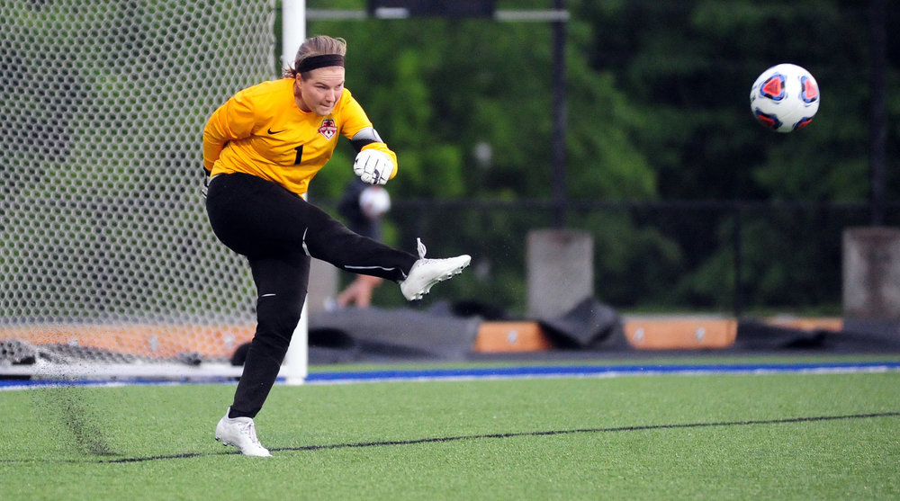 Citizen file photo Park Hill junior goalkeeper Kelbey Emerson hits a goal kick during a game earlier this season.