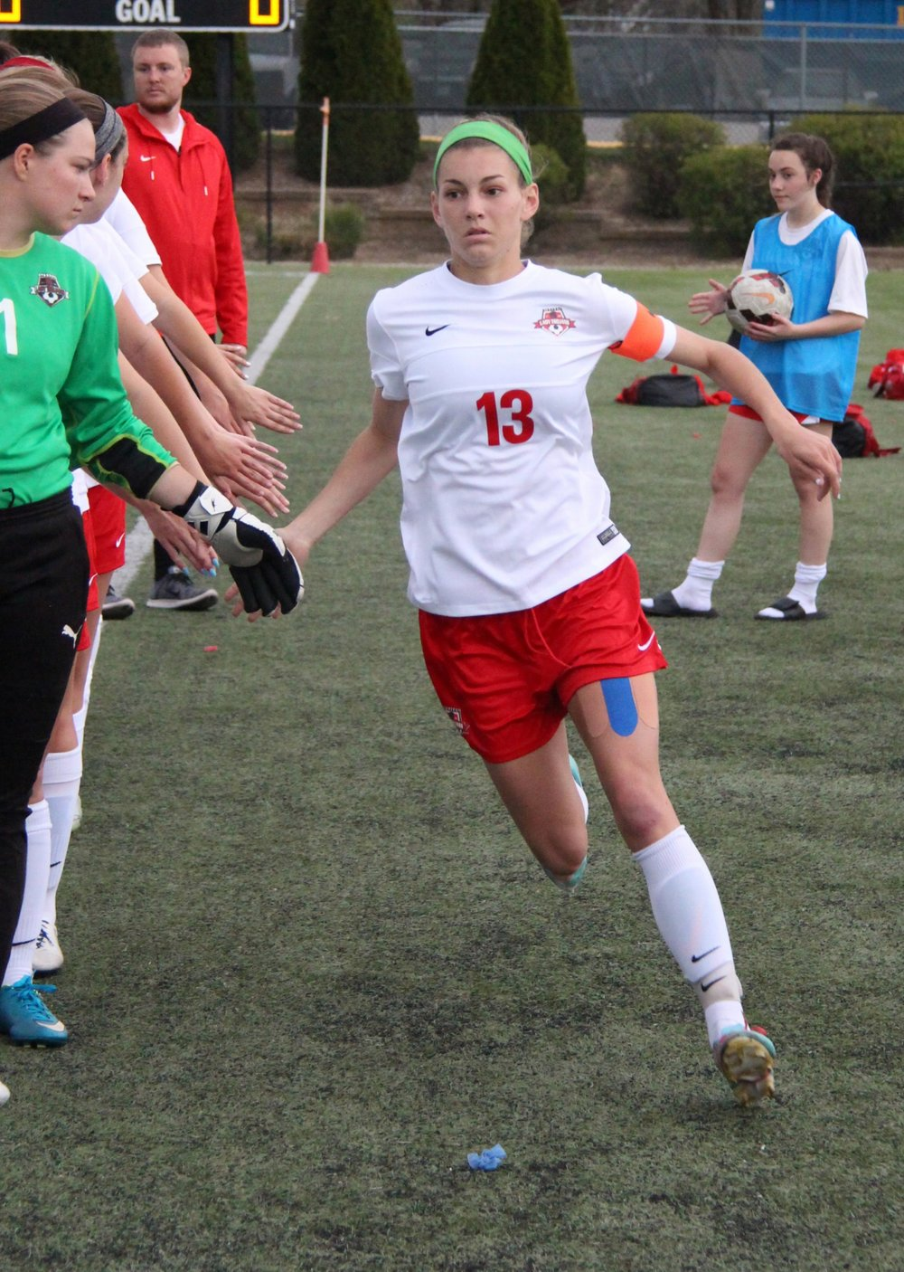 Citizen file photo Park Hill senior defender Jenna Winebrenner takes the field before a game earlier this season against St. Teresa's Academy at Park Hill District Soccer Complex in Riverside, Mo. Winebrenner finished her career as a four-time all-state performer for the Trojans.