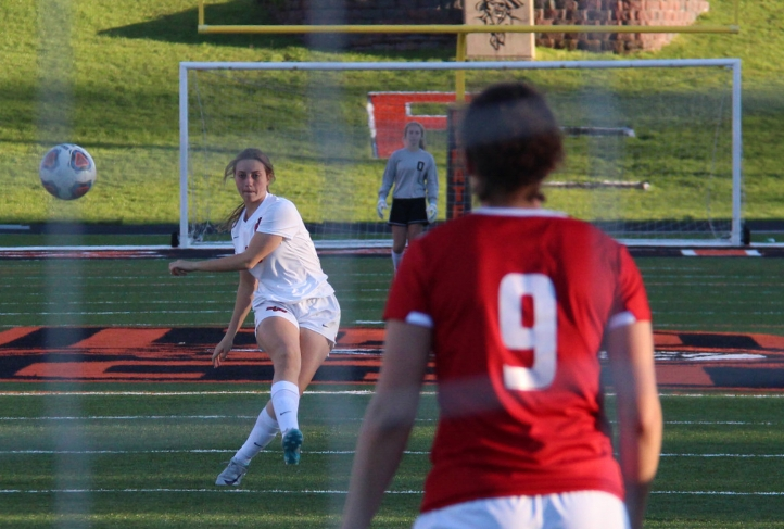 Citizen file photo Platte County senior defender Calle Boe, seen here in a 2017 game against Raytown South, earned honorable mention all-state honors in Class 3 from the Missouri State High School Soccer Coaches Association.