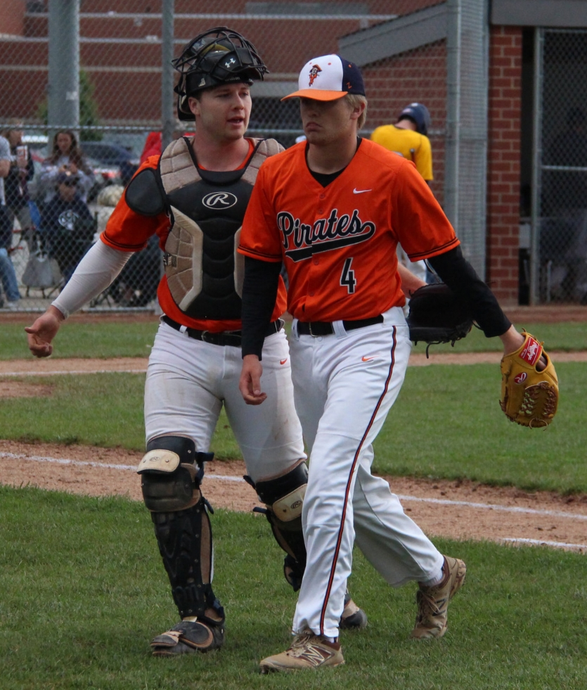 ROSS MARTIN/Citizen photo Platte County seniors Justin Mitchell, left, and Jared Wilson, right, were recently named to the Class 5 Missouri High School Baseball Coaches Association teams.