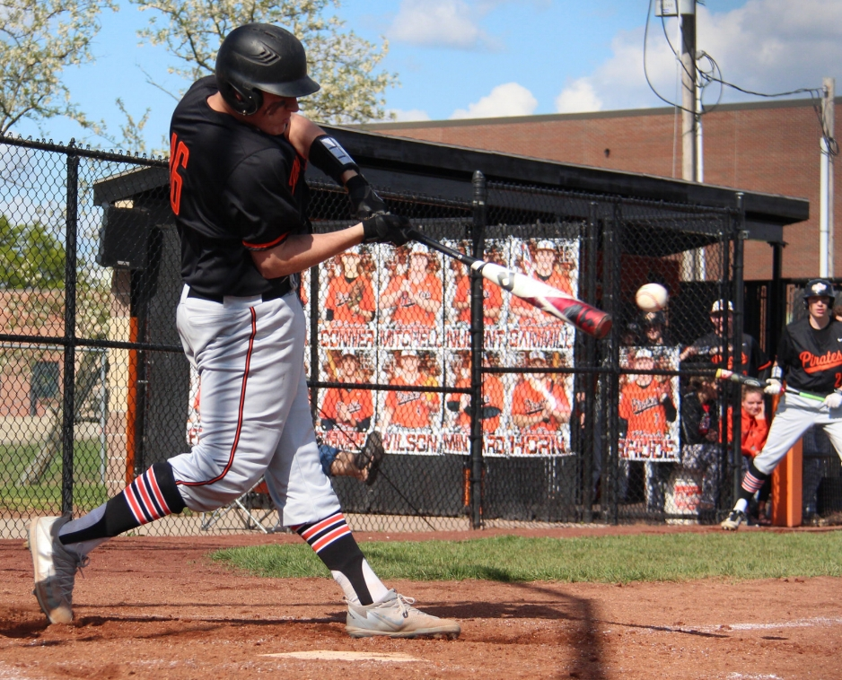 ROSS MARTIN/Citizen photo Platte County senior Austin Gammill takes a swing in a game against Kearney earlier this season at Platte County High School.