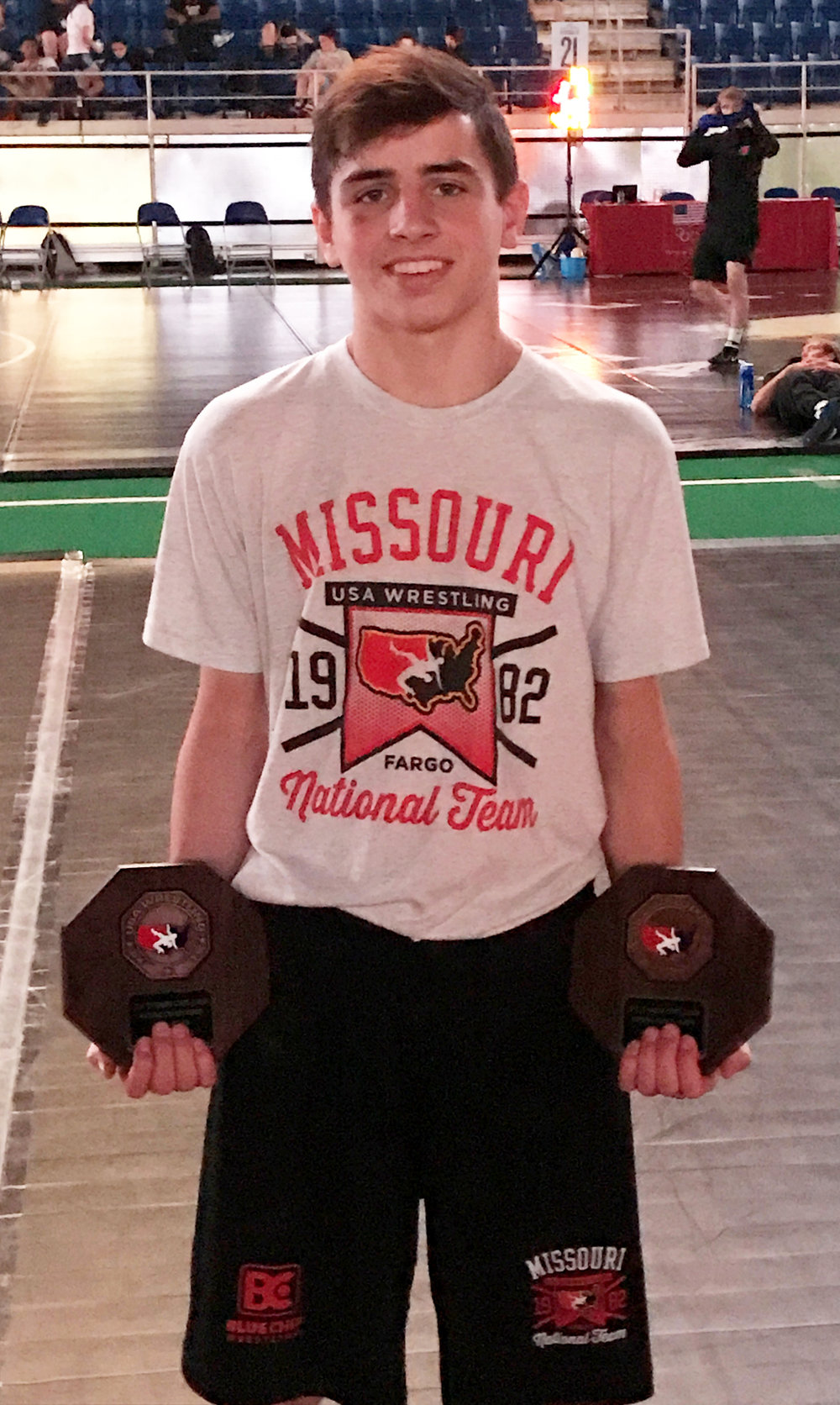 Contributed photo Platte County's Cody Phippen earned double All-American honors in the USA Wrestling Cadet/Junior Freestyle and Greco-Roman National Championships last month in Fargo, N.D.