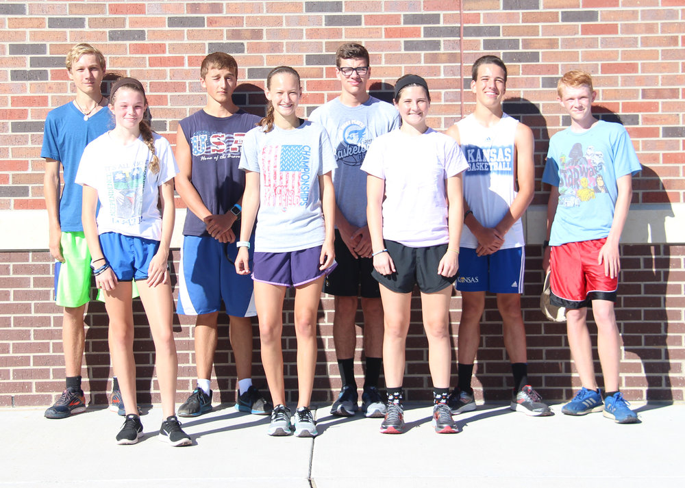 Front row, from left: Katy Tharp, Lexi Elmore and Lea Moose. Back row, from left: Max Davies, Zac Howerton, Coy Taylor, Phillip Pattison and Matik Heskin. Not pictured:  Andrew Cicha, Drake Stelljes, Justin Howard, Lindsay Goodwin, Sophia Rush, Bella Clark, Lydia Davis, Amber Pennington and Addison Farley.