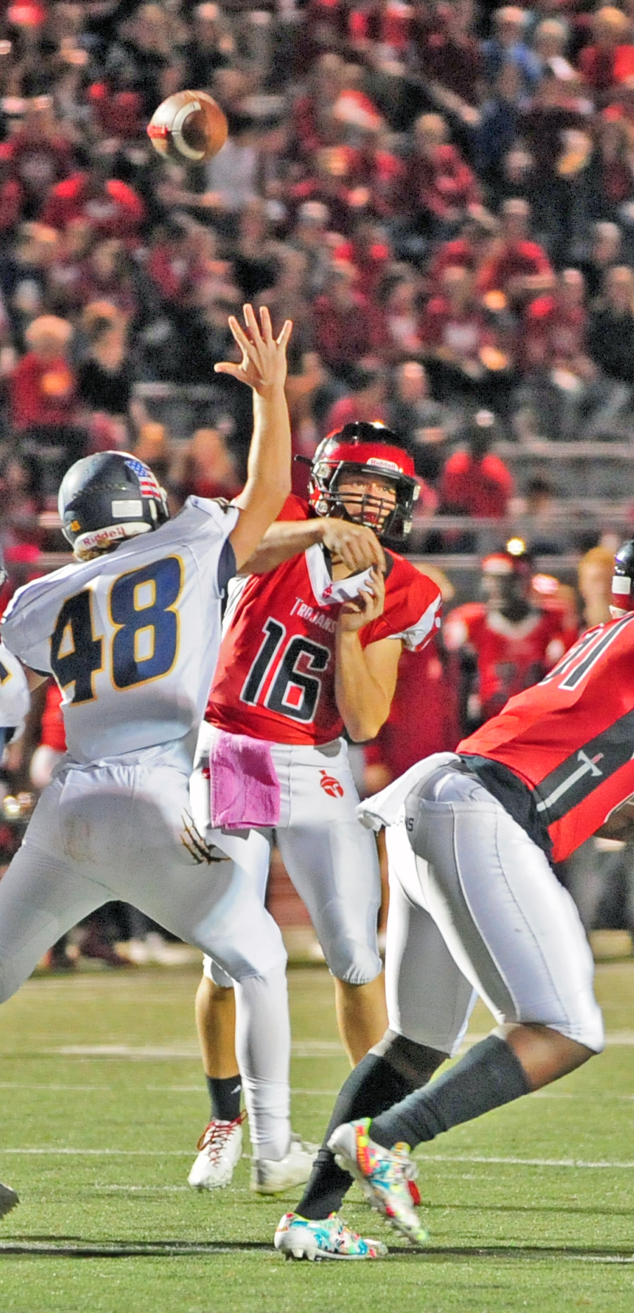 NICK INGRAM/Citizen photo Park Hill senior quarterback Billy Maples threw for more than 400 yards in the Trojans' 45-23 victory.
