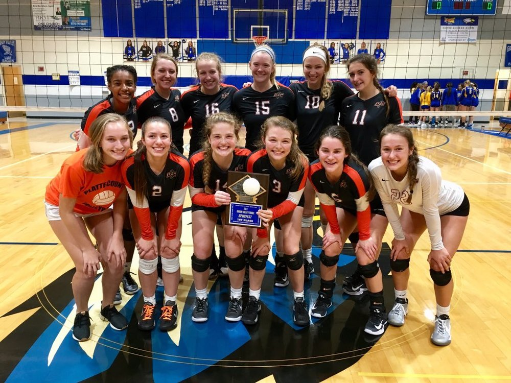Contributed photo Platte County players celebrate after winning the Grain Valley Invitational on Saturday, Oct. 7 in Grain Valley, Mo.