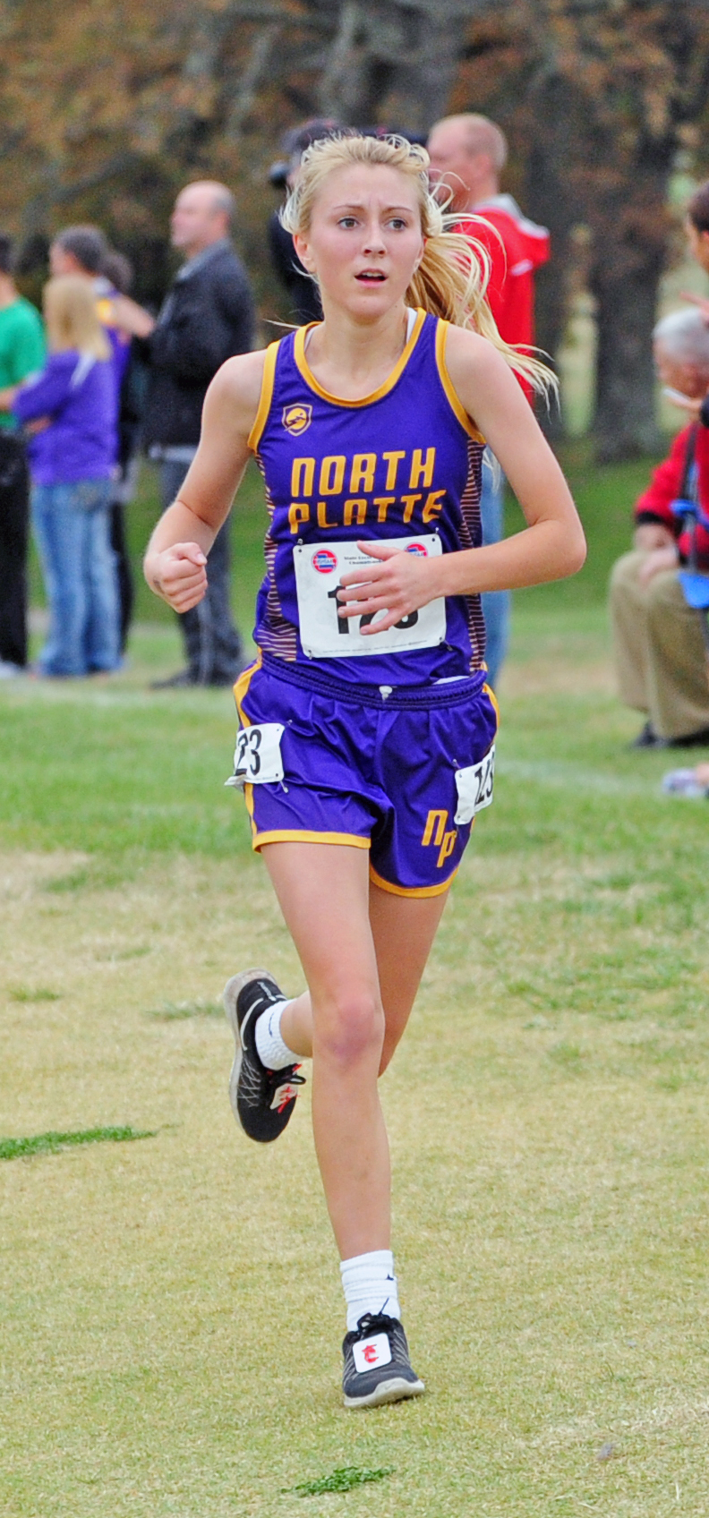 NICK INGRAM/Citizen photo North Platte senior McKenna Fulton competes in the Class 2 Missouri State Cross Country Championships on Saturday, Nov. 4 at Oak Hills Golf Center in Jefferson City, Mo.