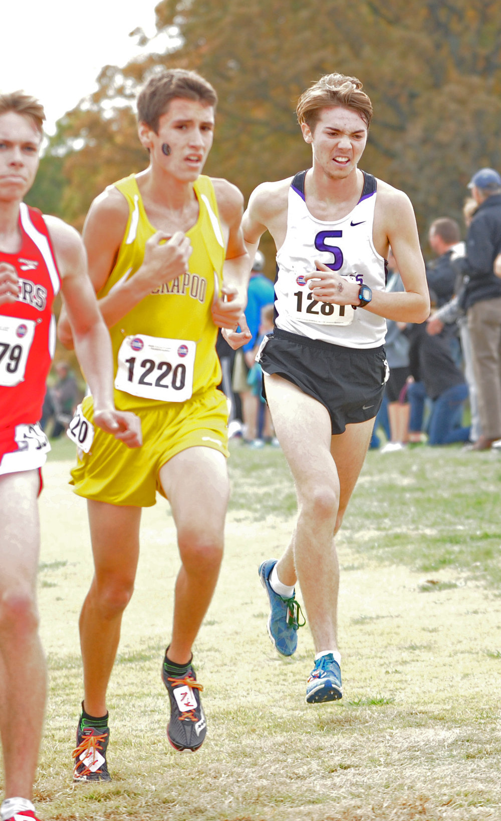 NICK INGRAM/Citizen photo Park Hill South senior Eli Guzman runs in the Class 4 Missouri State Cross Country Championships on Saturday, Nov. 4 at Oak Hills Golf Center in Jefferson City, Mo.