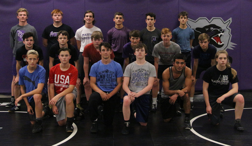 Front row, from left: Ben Goodin, Denver Benton, Carter Thomas, Gage Baska, Luke Sayer and Finey Bickford. Middle row, from left: Sean Plaster, Thomas Maple, Logan Birch, Payton Keedy, Kale Slater and Josh Lowe. Back row, from left: Parker Greenfield, Alex Dittman, Andrew Mikuls, Jackson Minor, Alex Kuleshov and Max Donahoe.