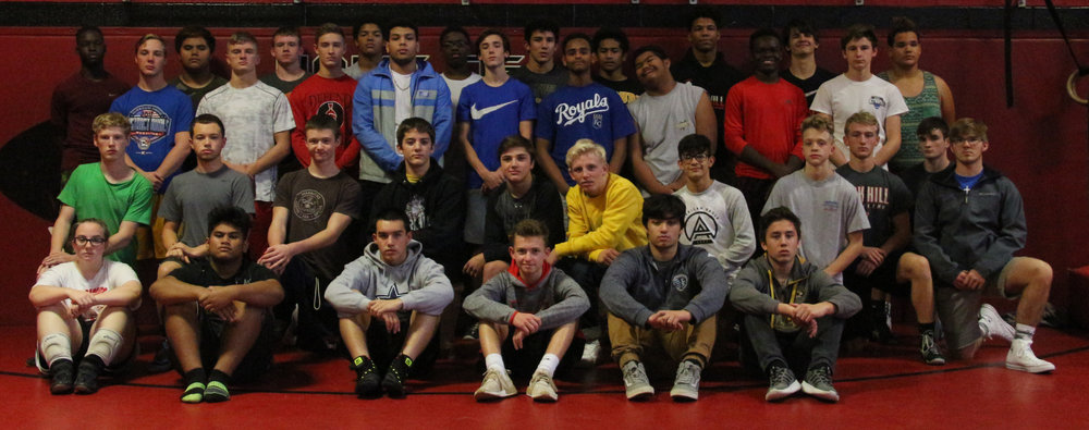 Front row, from left: Emmalyn Golden, Hector Olpet, Adrian Cruz, Jack Ficken, Wesley Goad-Lopez and Seth Lampton. Second row, from left: Aidan Searcy, Brandon Murguia, Evan Bushman, Aidan Johnson, Trey Crawford, Ethen Miller, Josef Moreno, Hunter Mann, Jack Vende Ven, Cam Stucker and Phoenix Thomas. Back rows, from left: Mohammed Suraj, Justin Partridge, Derek Kelly, Justin Stock, Preston Salyer, Austin Davidson, David Hill-Johnson, Simon Tesfamarian, Mitchell Smith, Christian West, Ashton Sharp, Zeke Saelow, Connor Sauder, Tolovejen William, Devin Winston, Larry Charles, Spencer Eastwood, Parker Stevens and Antonio Figueroa. Not pictured: Josh Steele, Weston DiBlasi, Grayston DiBlasi, Johnny Wilson, Blake Hopson, Austin Kolvek and Carter Goslee.