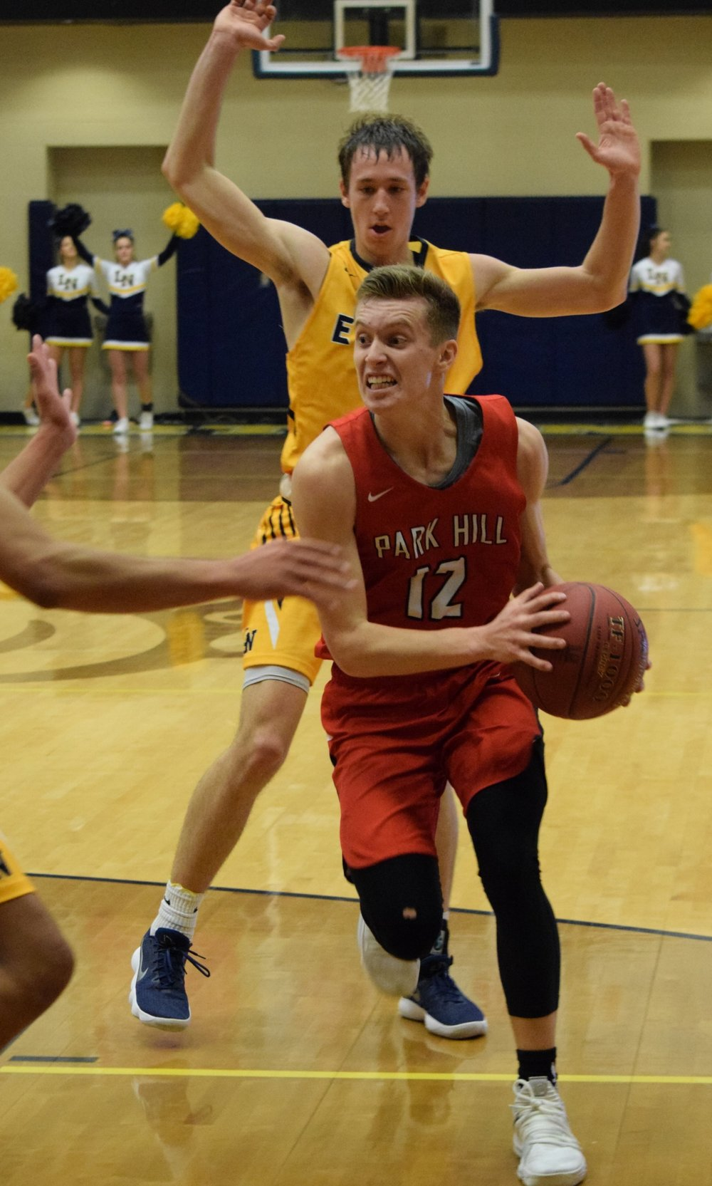 BRYCE MERENESS/Special to The Citizen LEFT: Park Hill junior Ryan Graves (12) drives to his left toward the basket against Liberty North on Friday, Dec. 8 in Liberty, Mo.
