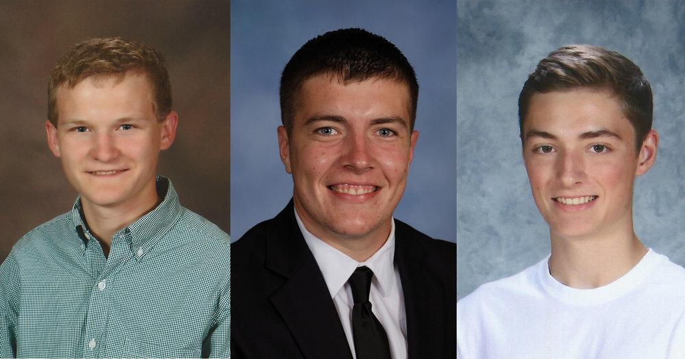 From left, Park Hill South senior Ben Eason, North Platte senior Austin Snook and Park Hill senior Jackson Turner