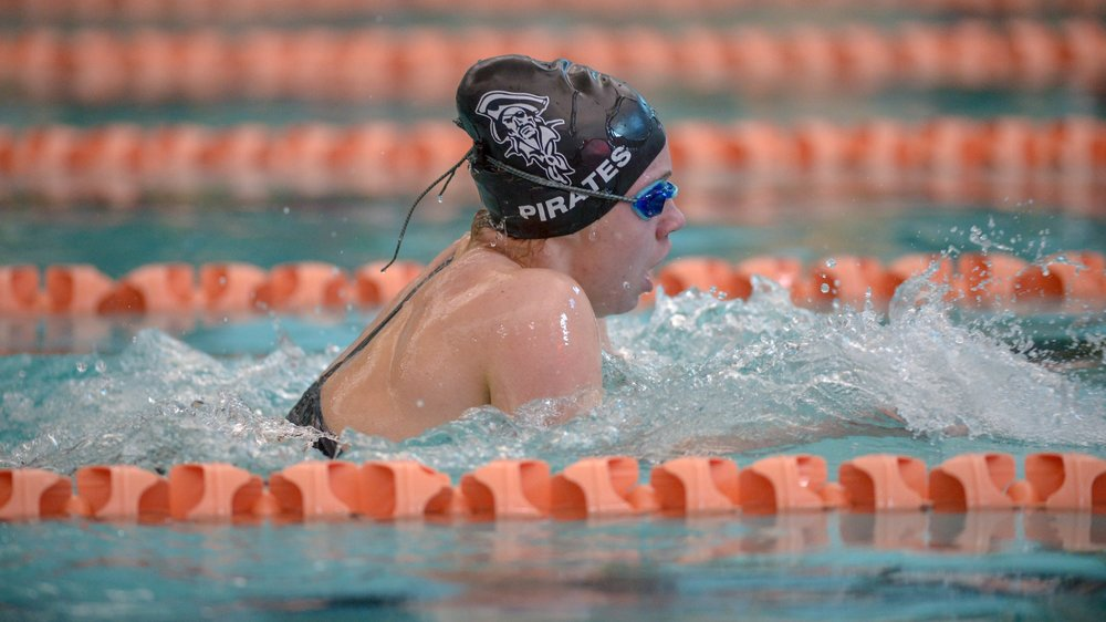 TODD NUGENT/Special to The Citizen Platte County freshman Shannon Banark competes in the Pirate Invitational on Saturday, Dec. 16 at Platte County Community Center North.