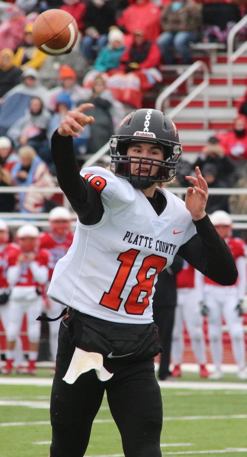 Platte County senior quarterback Tanner Clarkson