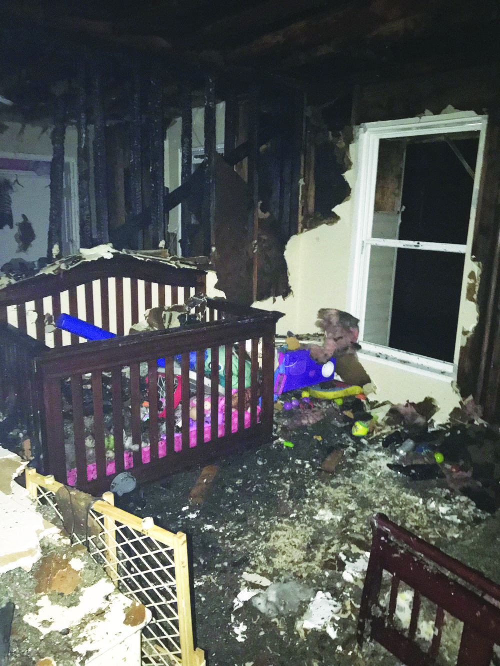 Contributed Photo Parkville resident Samantha Stuckey took a photo of her daughter's room after portions of their apartment caught on fire on Tuesday, Feb. 6 at The Links at Parkville apartment complex off of Highway 9.