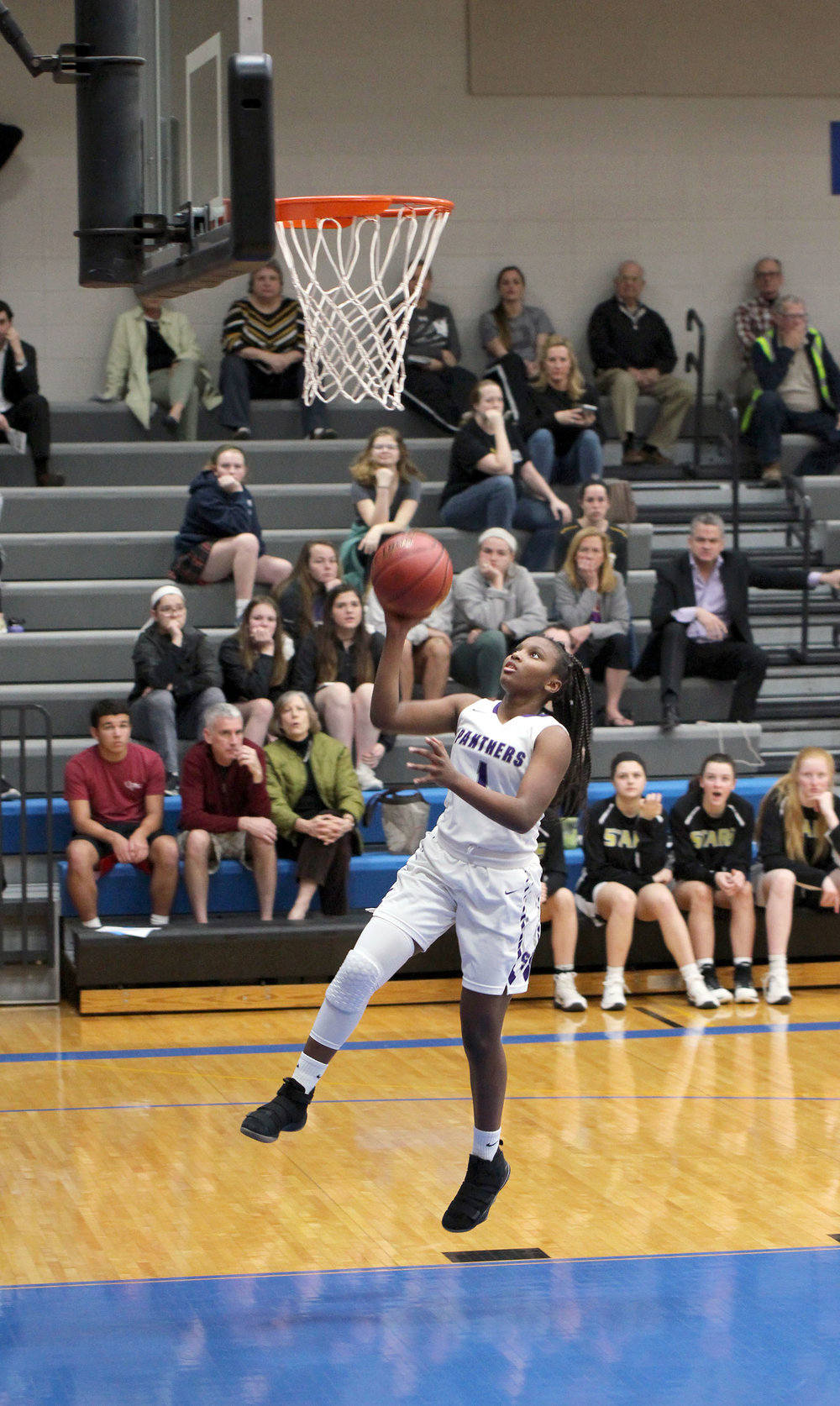 CODY THORN/Citizen photo Park Hill South guard DeQuaria Guillory goes up for a layup during the Class 5 District 14 semifinal game on Wednesday, Feb. 28 at Rockhurst High School in Kansas City.