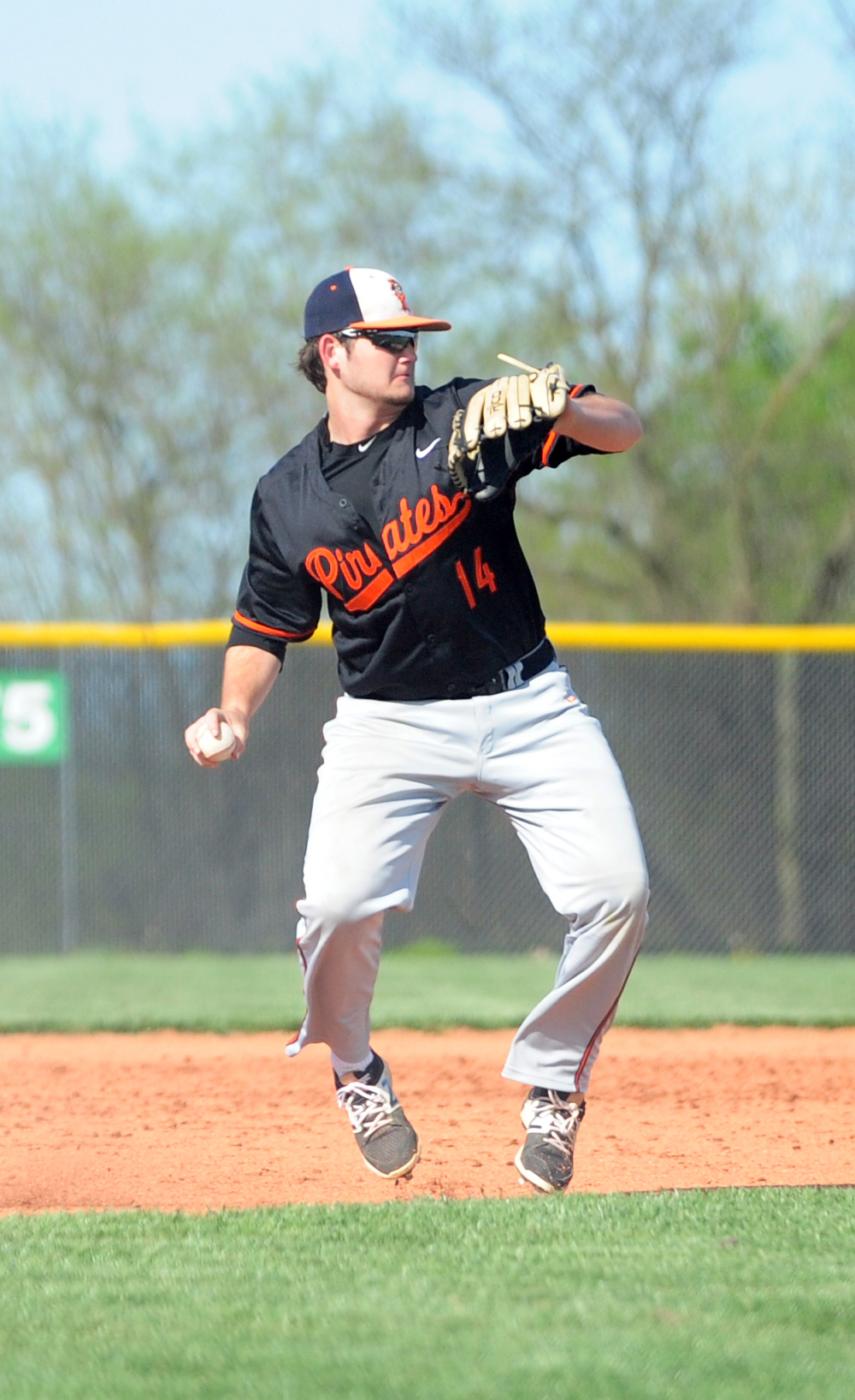 Citizen file photo Platte County's Max Hunter is one of three returning all-conference picks for the Pirates this spring. Hunter has signed to play with Pittsburg State University.