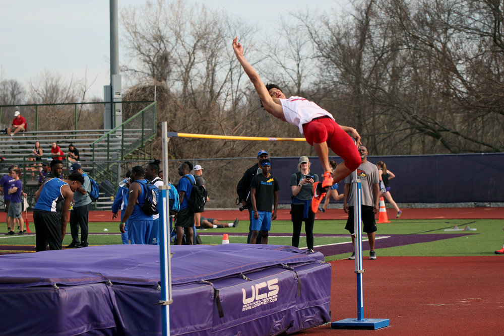 Park Hill freshman Jaylin Noel jumped 6-feet-2 inches to tie for fifth place in the high jump event on Thursday, April 12, at the Gary Parker Invitational.