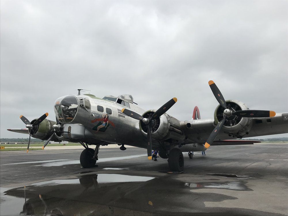 CODY THORN/Citizen photo The Madras Maiden landed at the Charles B. Wheeler Downtown Airport Monday afternoon, May 21. The 1944 World War II-era bomber plane will give tours this Saturday and Sunday starting at 10 a.m. from the location.