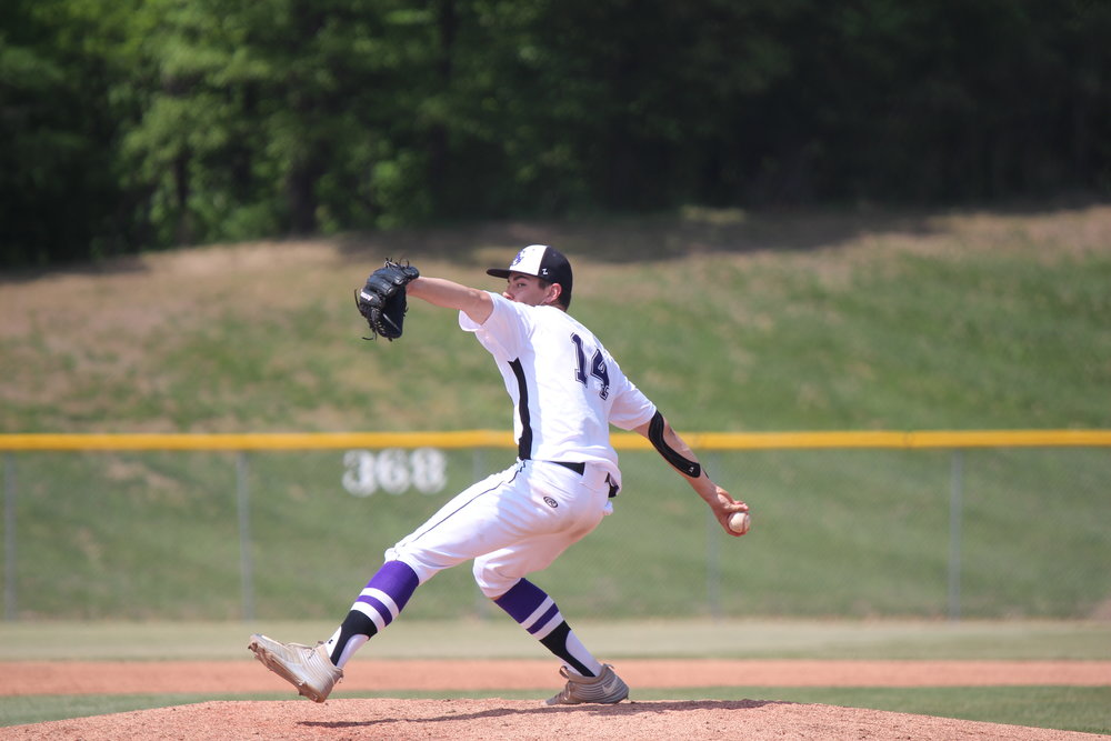 Citizen file photo Park Hill South pitcher Collin Brougham delivers a pitch against Staley in the Class 5 District 16 tournament in May, held at Park Hill South High School. Brougham was named to the Class 5 Missouri Baseball Coaches Association All-State team.