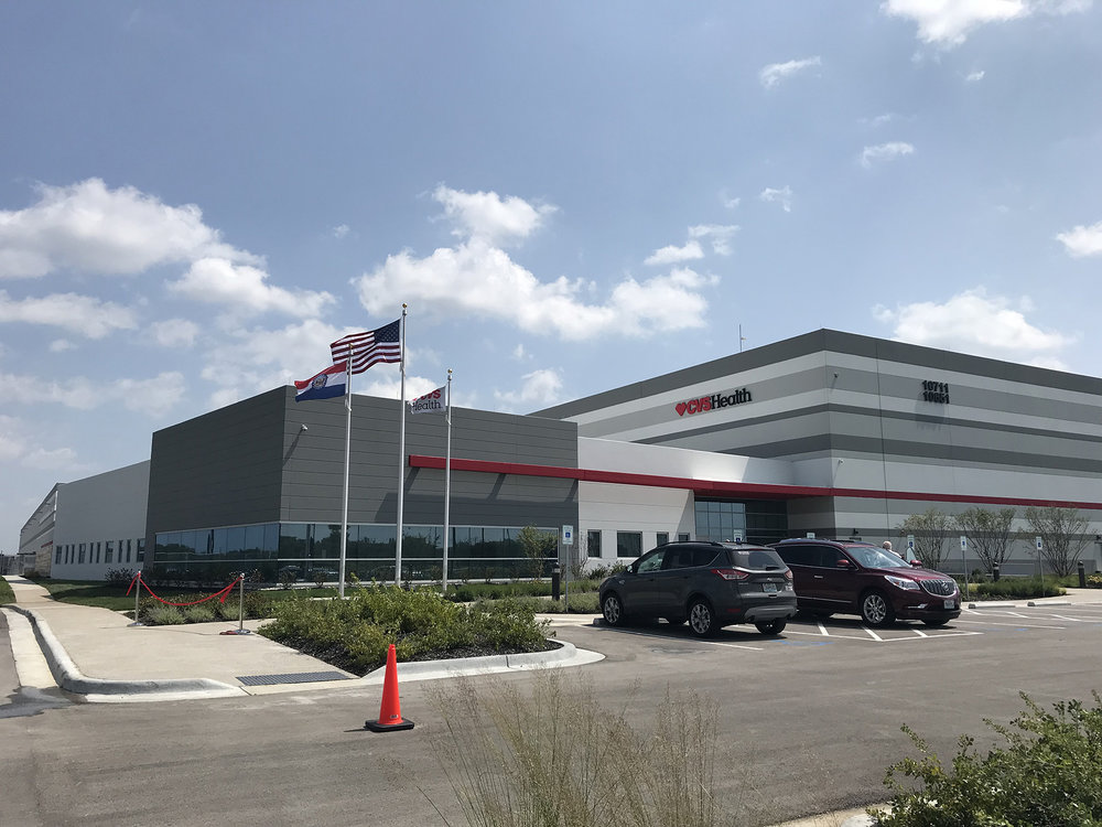 CODY THORN/Citizen photo The new CVS Health distribution center was called 'project toto' two years ago, but on Friday, Aug. 24, a ribbon cutting ceremony was held for the $111 million building that is located off of N. Congress Avenue in Kansas City, Mo.
