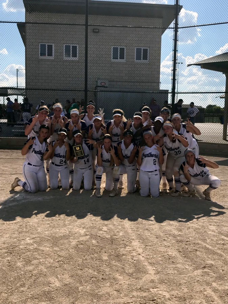 Submitted photo  The Park Hill South softball team picked up the tournament championship on Saturday, Sept. 15 with a win against Staley in the Winnetonka/Park Hill South Tournament held at the Tiffany Hills Sports Complex.