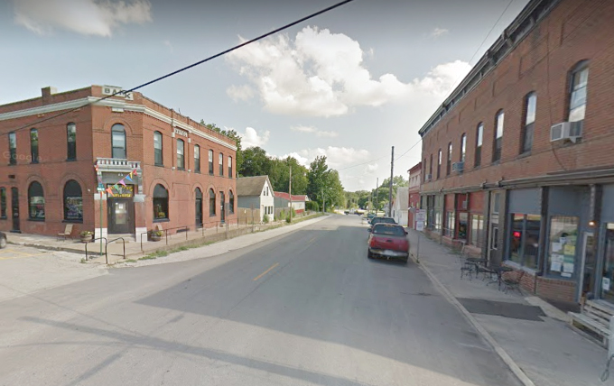Image from Google Earth Downtown Dearborn's Midwestern small town feel attracted producer.