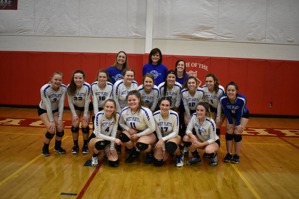 Submitted photo West Platte won two games on Saturday, Oct. 27 in Sedalia, Mo., to punch a ticket to the Class 1 state semifinals this weekend in Cape Girardeau. This marks the first time the Bluejays have reached this level of the postseason.