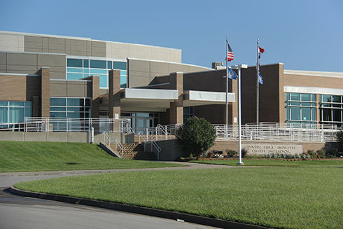 Park Hill South High School in Riverside.