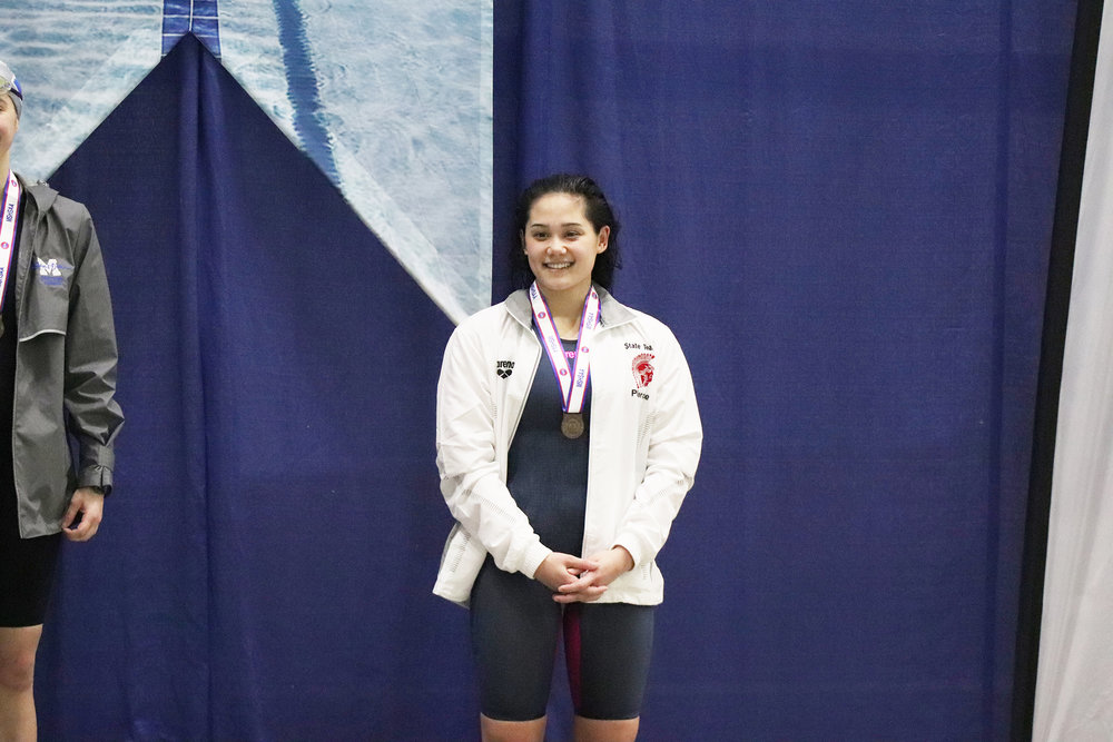 CODY THORN/Citizen photo  Park Hill's Brooklyn Pierce placed seventh in the 100-yard butterfly event.