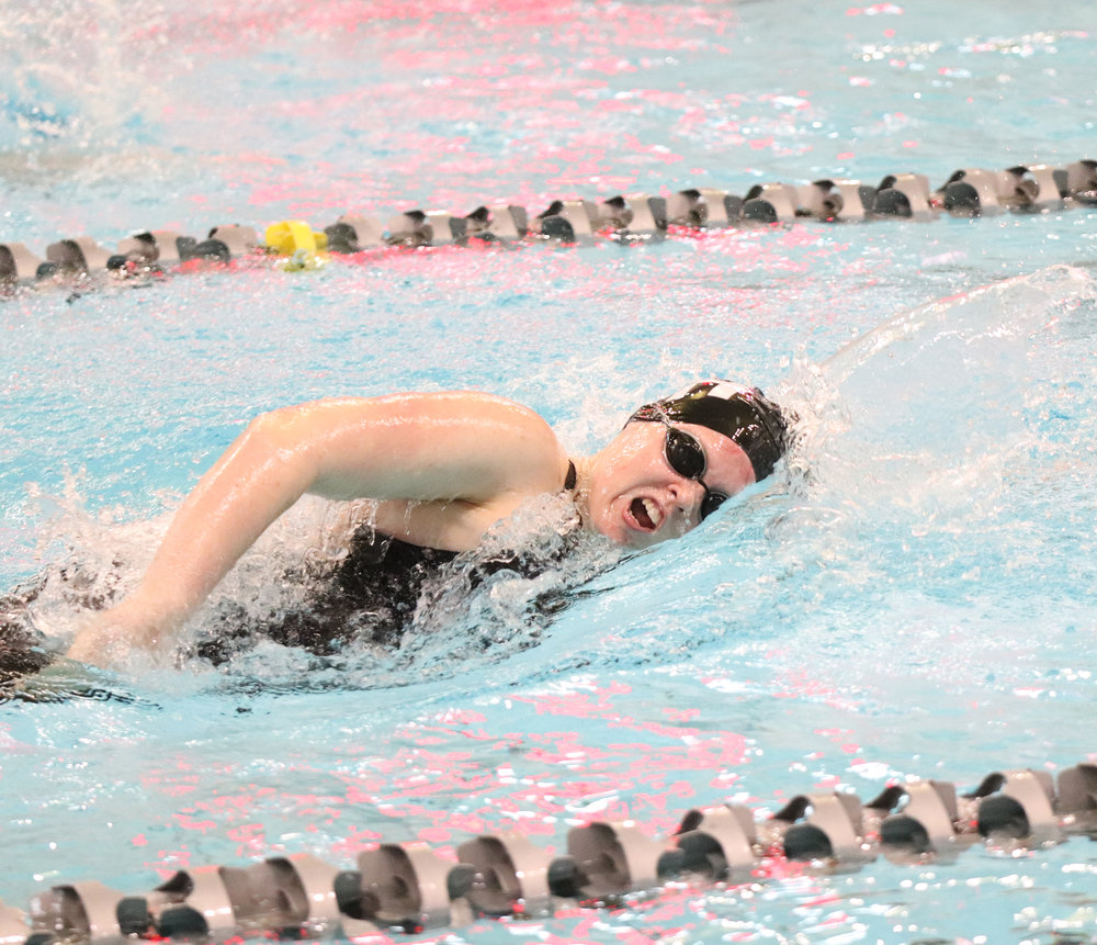 CODY THORN/Citizen photo  Park Hill's Abigail Culp placed in the consolation finals in the 200- and 500-yard freestyle events on Friday, Feb. 15 in St. Peters.