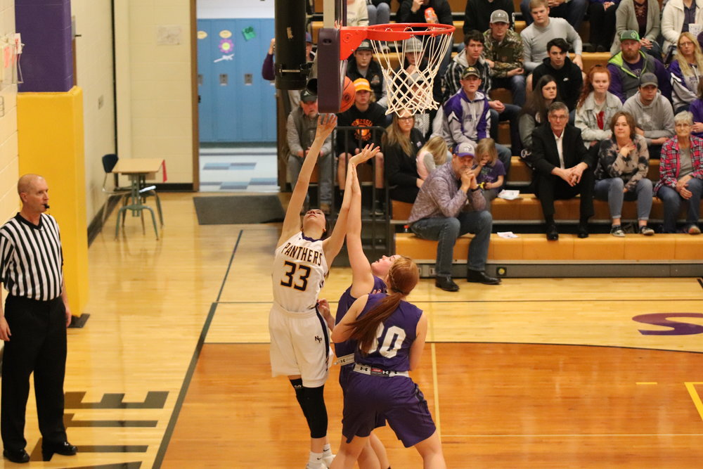 North Platte freshman Josie Roach goes up for a layup during the third quarter of the Class 2 District 15 title game on Saturday, Feb. 23.