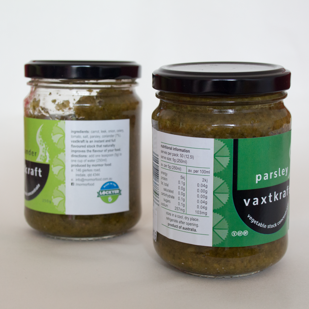 packaging design for vegetable stock