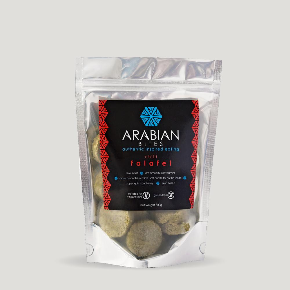 packaging design for falafel
