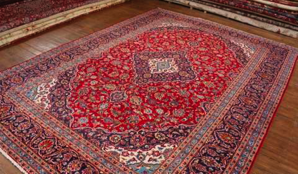 A Kashan rug is a type of Persian rug from the area of Kashan.Kashan is a city in Isfahan Province in North Central Iran. Persian carpets were produced at Royal workshops in the 17th and early 18th century. The Persian carpet workshops ceased production in about 1722 after the Afghan invasion. Today, some of the best Kashans are from Ardistan, as well as in Yazd and Kashmar in Khorasan.