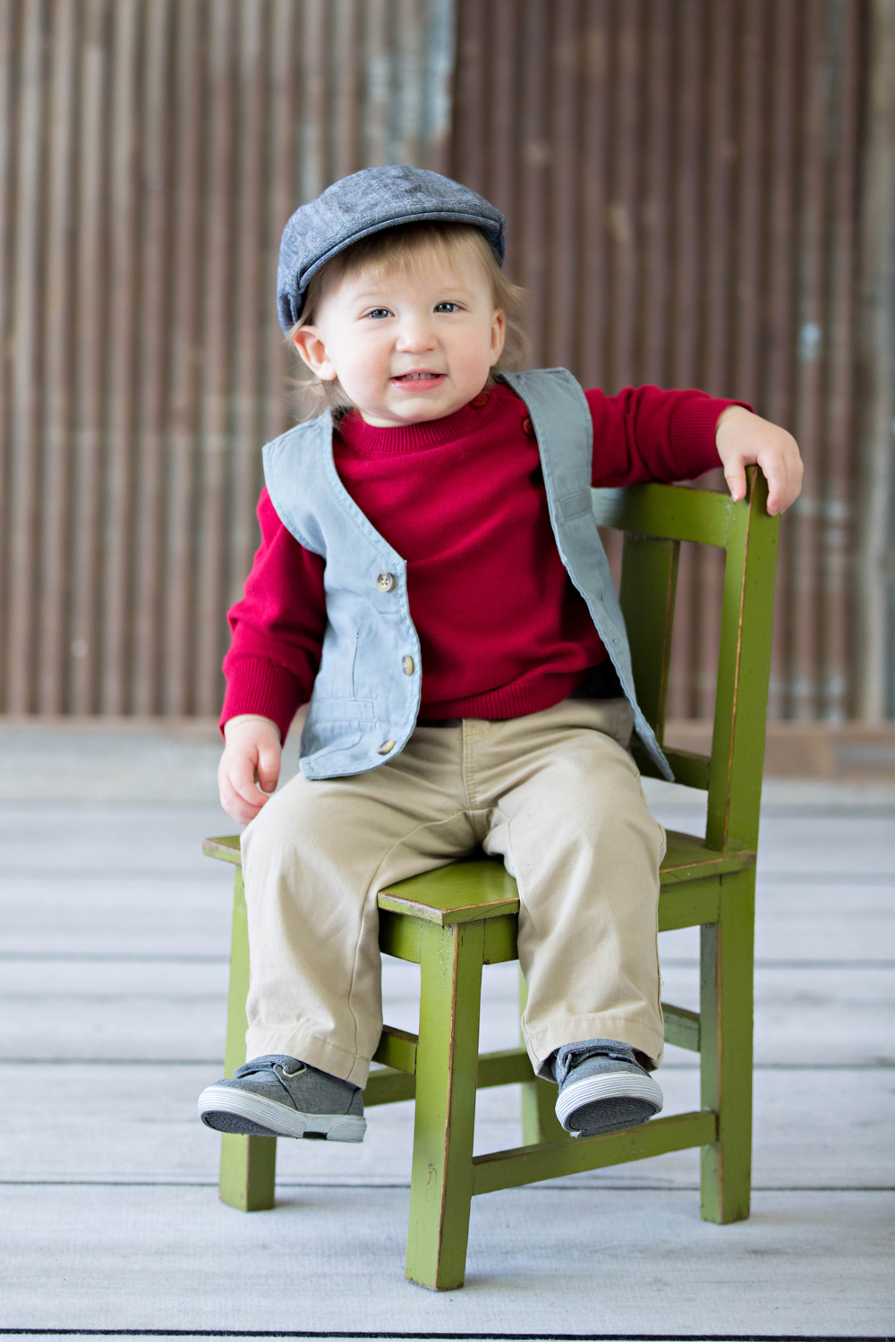 little boy green chair studio pictures hillary frost.jpg