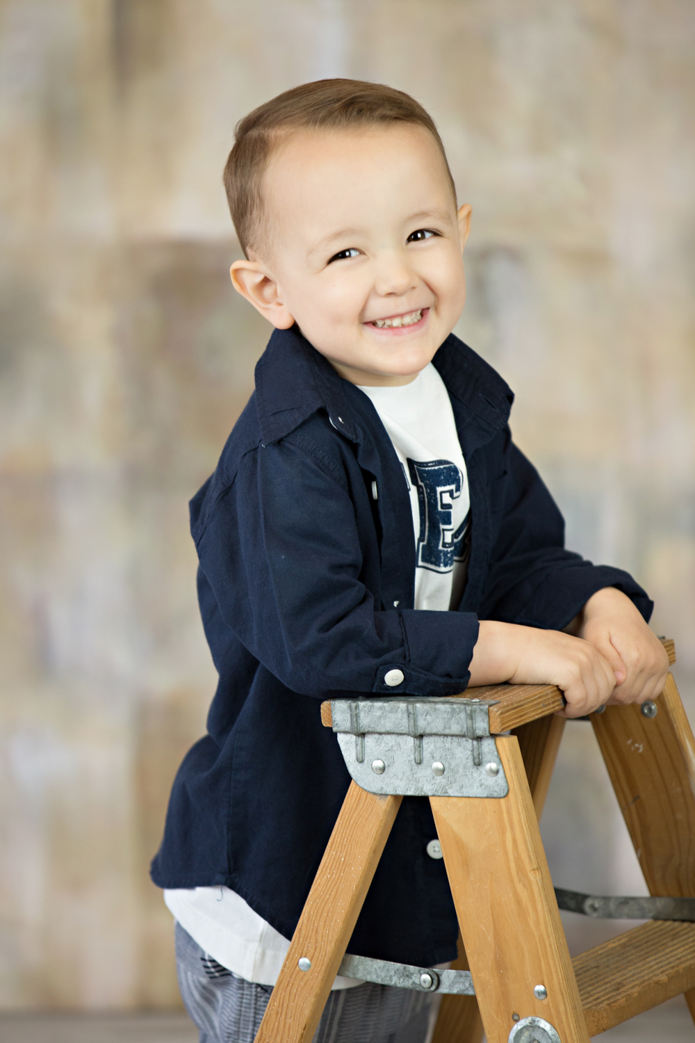 studio portraits little boy smiling hillary frost photography