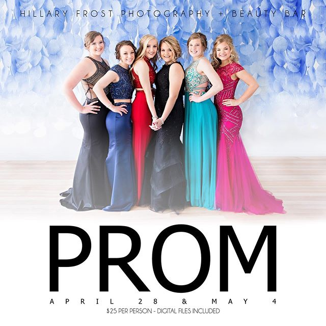 MD Prom! We still have openings from 2-3 and a few times throughout the day for a couple or group of 2-3! Message us to grab them!