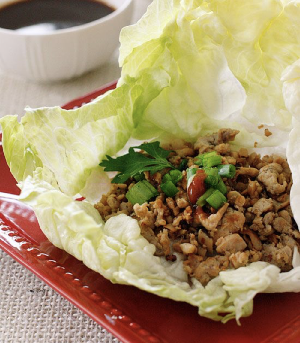Quick Asian Chicken Lettuce Wrap