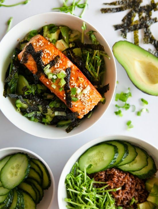 Asian Salmon Sesame Bowl