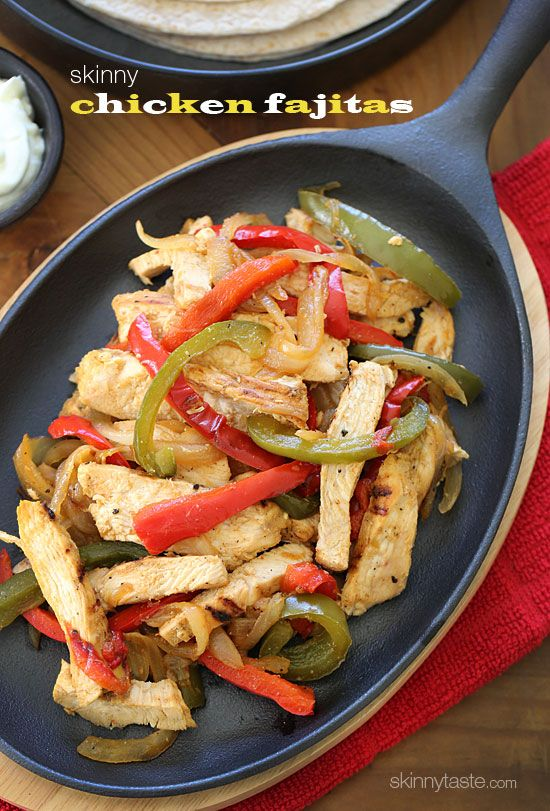 Skinny Chicken Fajitas