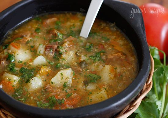Beef, Potato, and Quinoa Soup