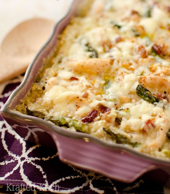 Asparagus, Chicken, and Quinoa Bake