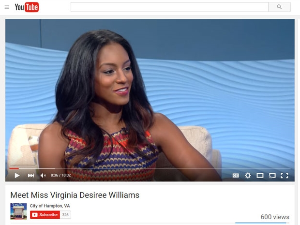 City of Hampton, VA Meet Miss Virginia, Desirée Williams