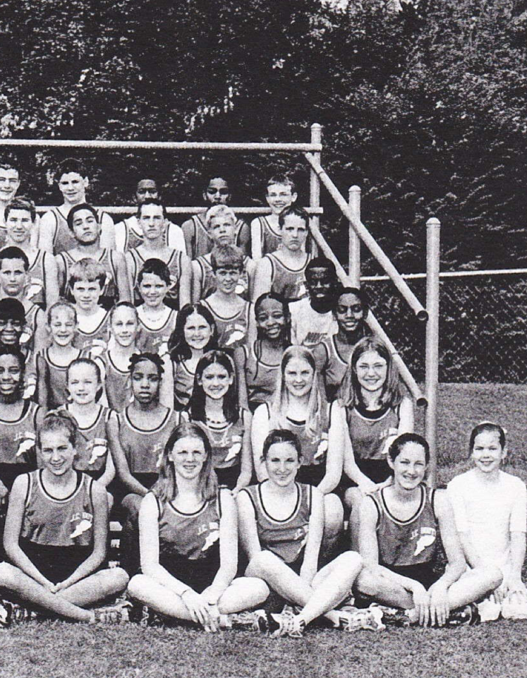 The only evidence that I ever ran track.  I'm in the third row on the far right. . . with my eyes closed.